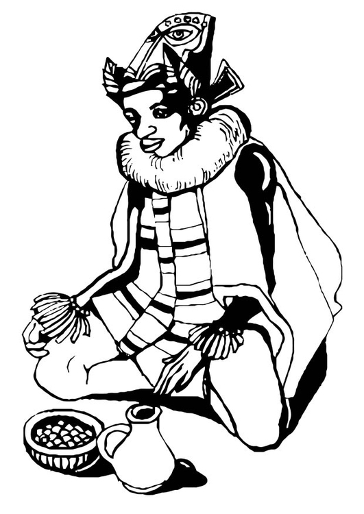 Coloring page tradition African dress