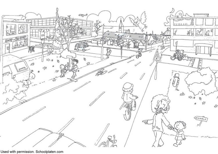 Coloring page traffic