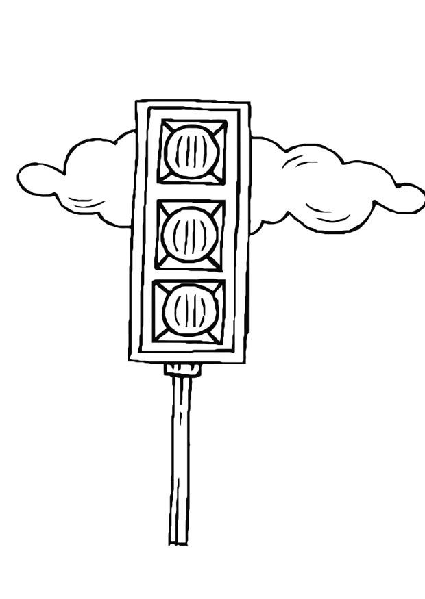 Coloring page traffic light img 10976 for Traffic light signs coloring pages