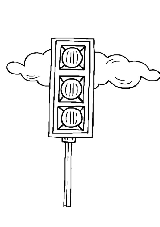 coloring page traffic light free printable coloring pages