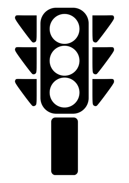 Coloring Page Traffic Light Img 19268 Stop Light Coloring Sheet