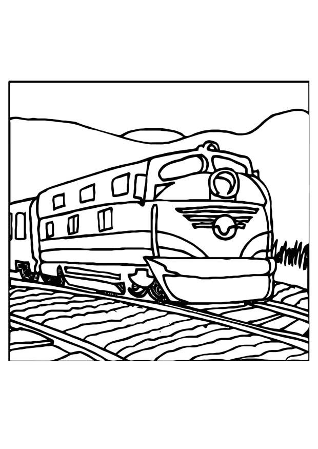 train printable colouring page