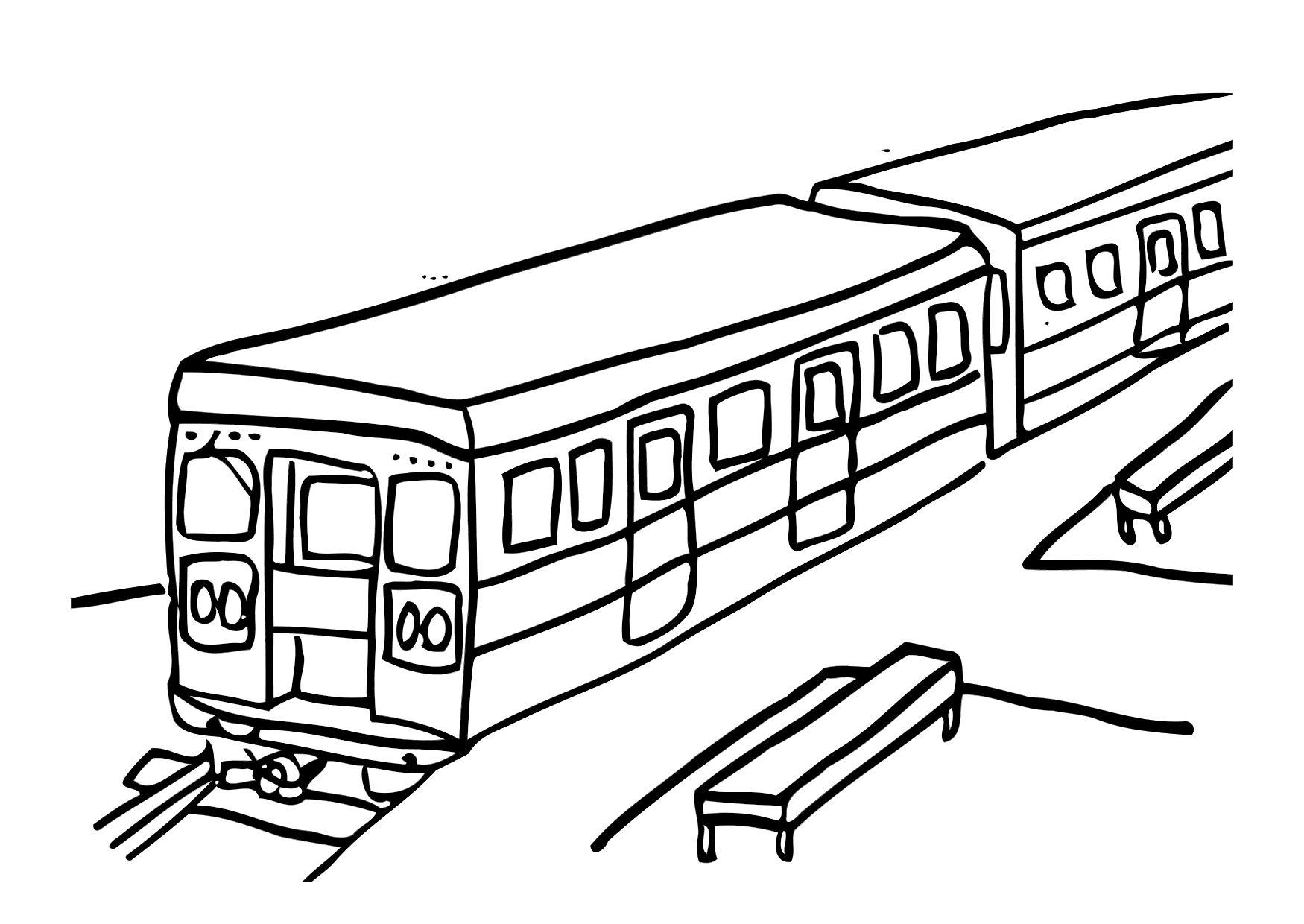 Coloring Page Train Img 12303 Images