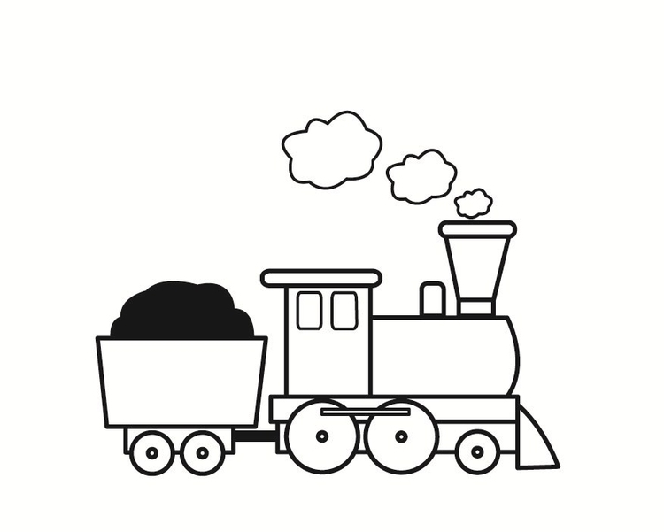 Coloring page train