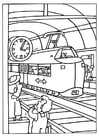 Coloring page train station