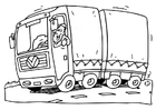 Coloring page transport truck
