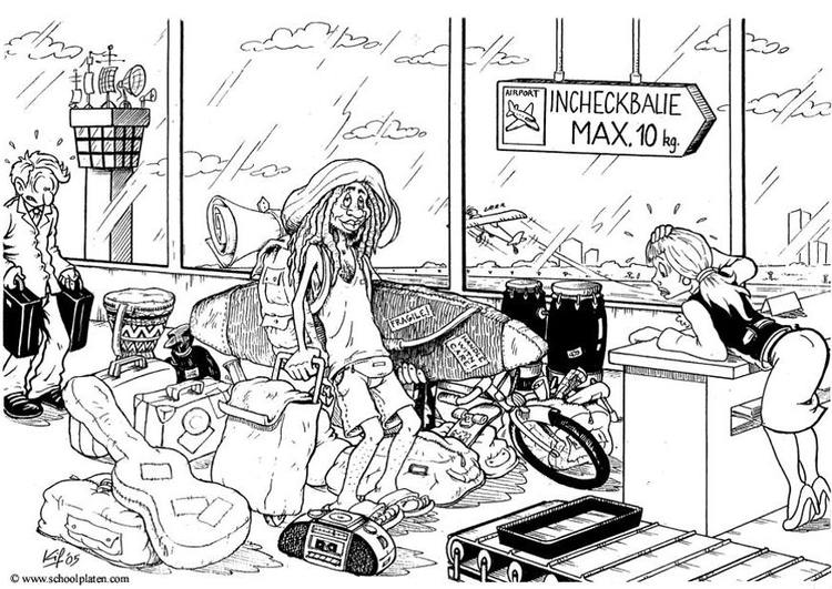 Coloring page travelling