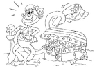 Coloring pages treasure chest