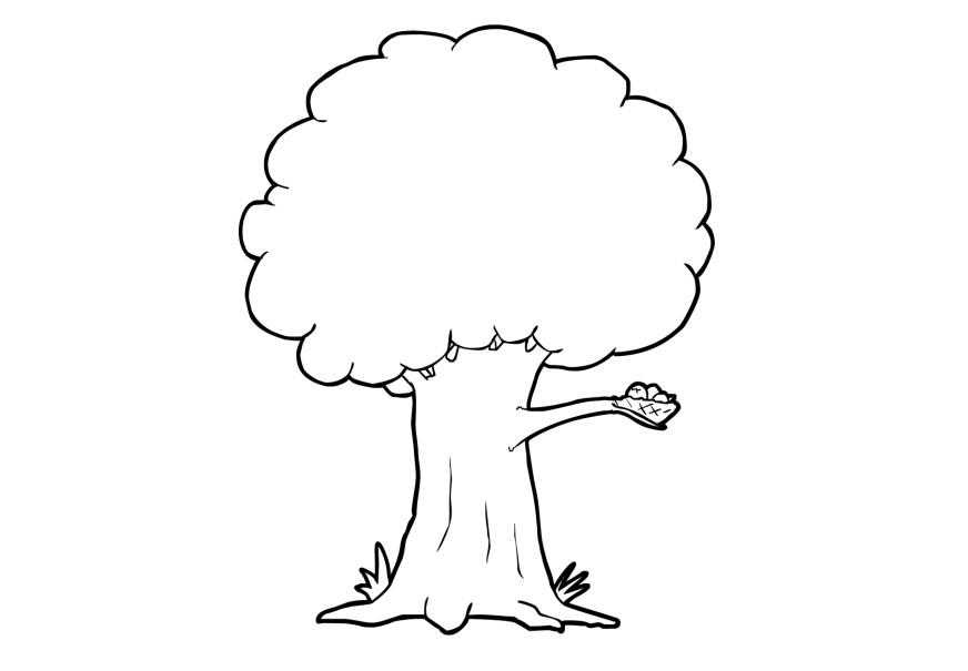 Coloring page tree - img 13741.