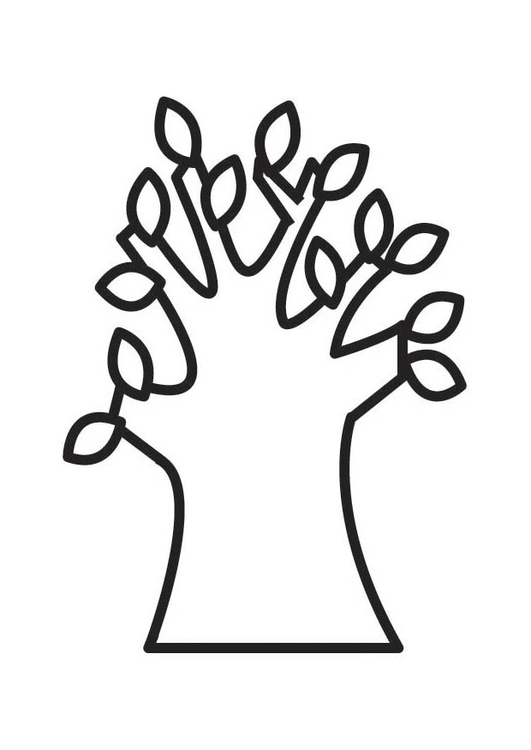 Coloring page Tree in spring