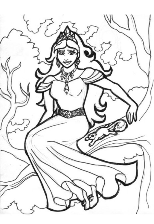 Coloring page tree queen Gellie