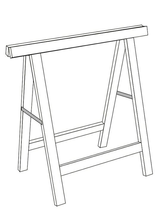 Coloring page trestle