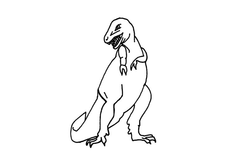 Coloring page t-rex