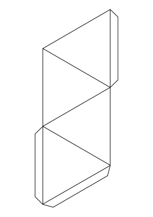 Coloring page triangle - pyramid
