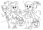 Coloring pages trick or treat