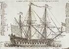 Coloring page triple mast sailing warship
