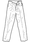 Coloring page trousers