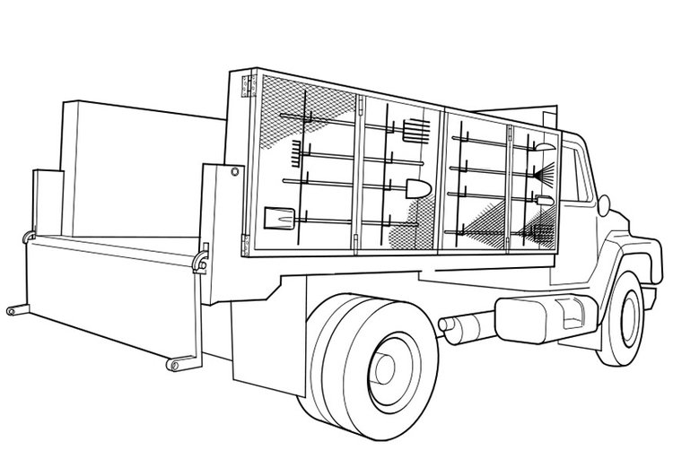 Coloring page truck