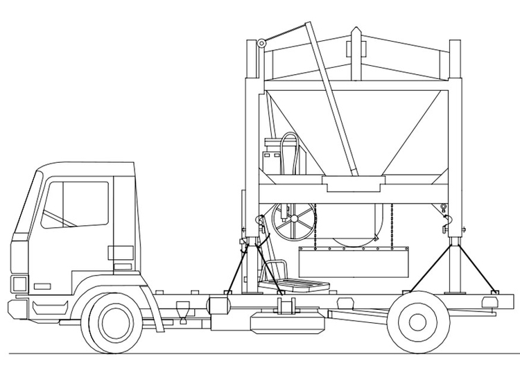 Coloring page truck - sand mixer