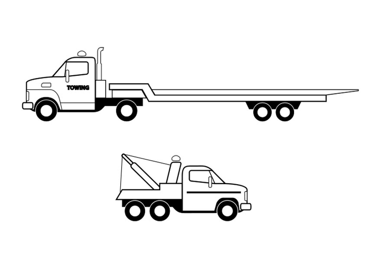 Coloring page trucks