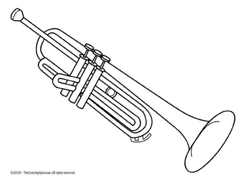 Coloring Page Trumpet Img 5957