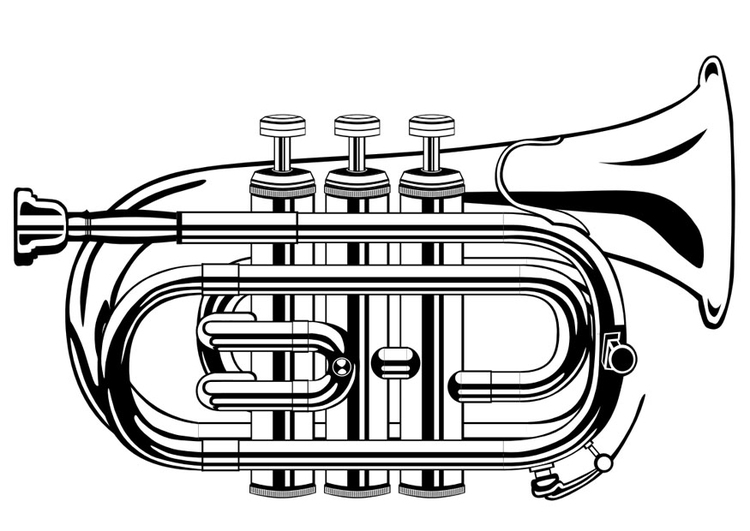 Coloring Page Trumpet Img 10015