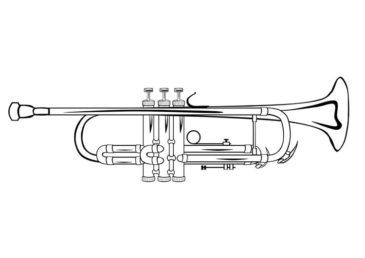 Coloring Page Trumpet Img 10032