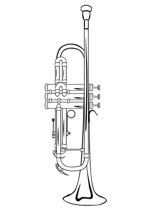 Trumpet Drawing For Kids