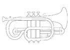 Coloring pages trumpet