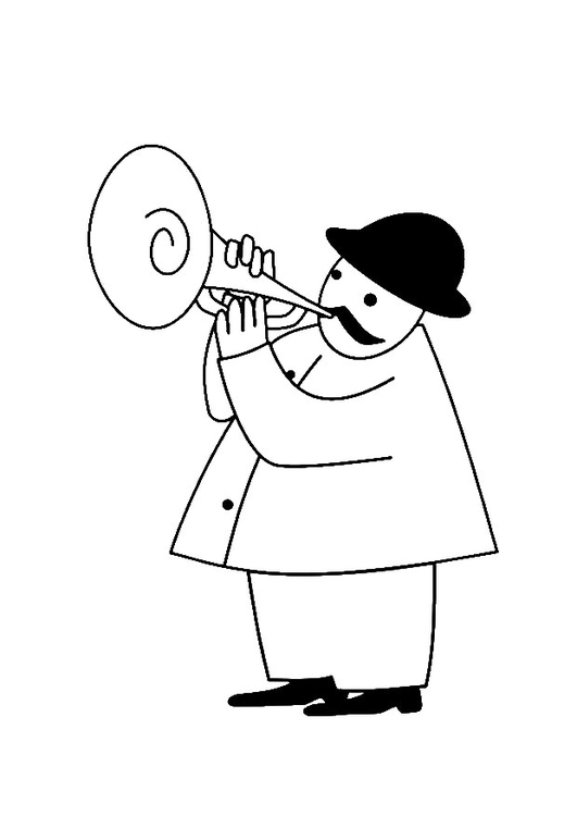 Coloring page trumpeter