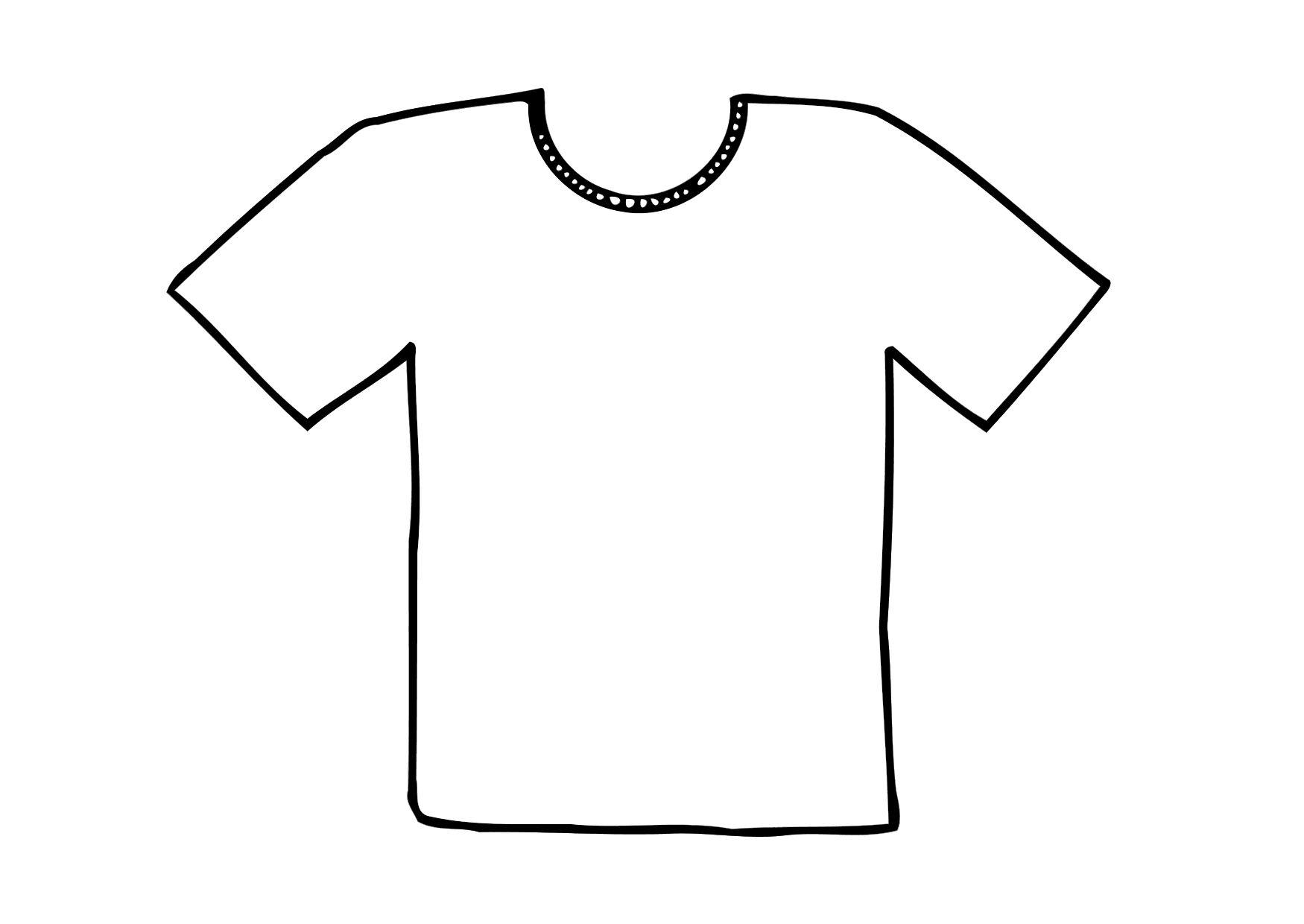 coloring pages of a shirt | Coloring Page t-shirt - free printable coloring pages