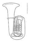 Coloring pages tuba