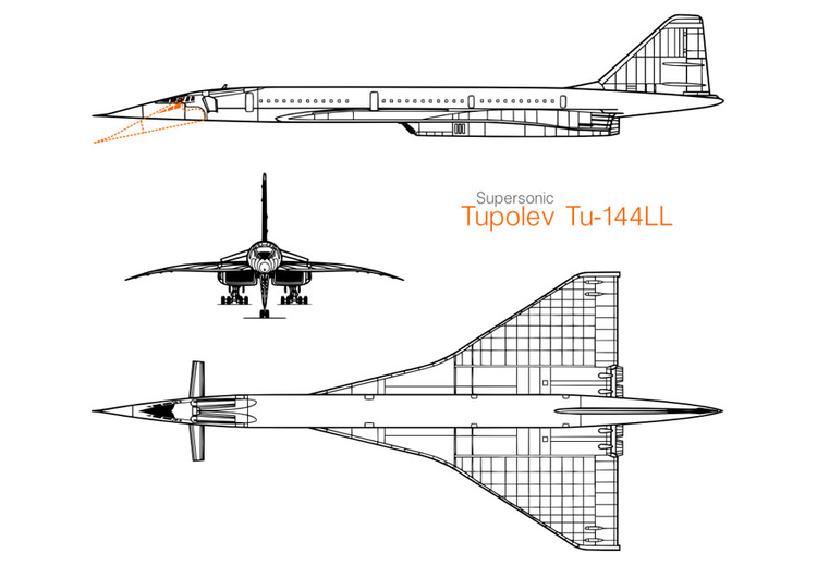 Coloring page Tupolev jet