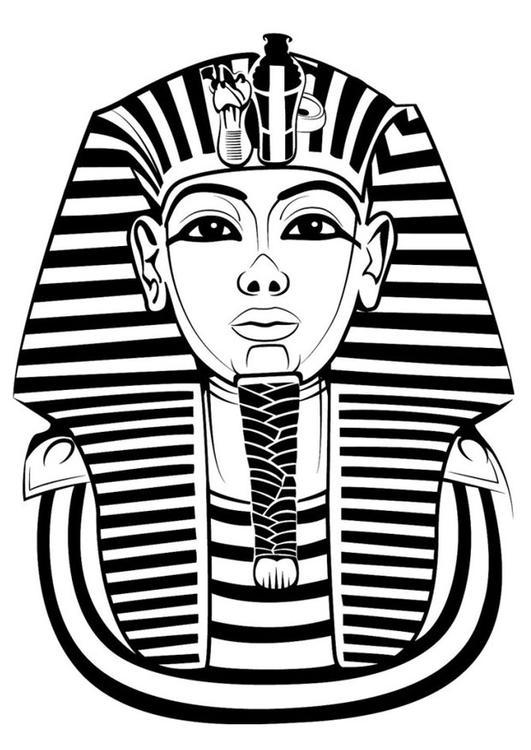 coloring page tutankhamun