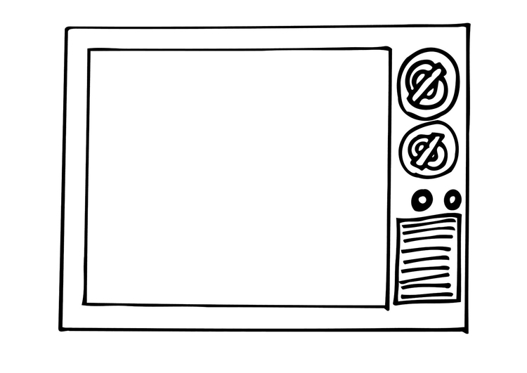 Coloring page TV