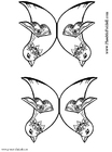 Coloring page two birds