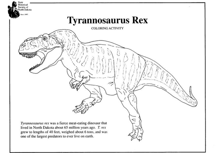 - Coloring Page Tyrannosaurus Rex - Free Printable Coloring Pages