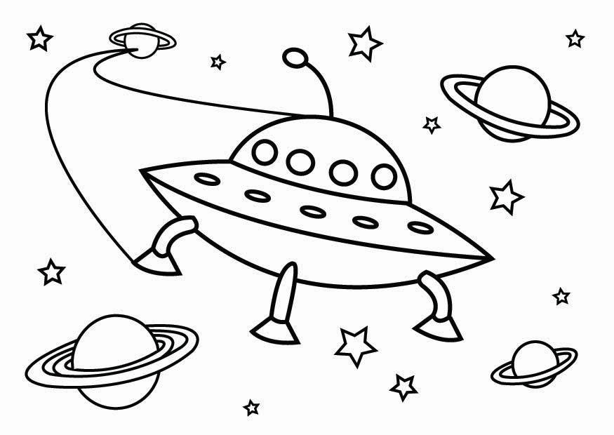Free coloring pages aliens ufos ~ Coloring page UFO