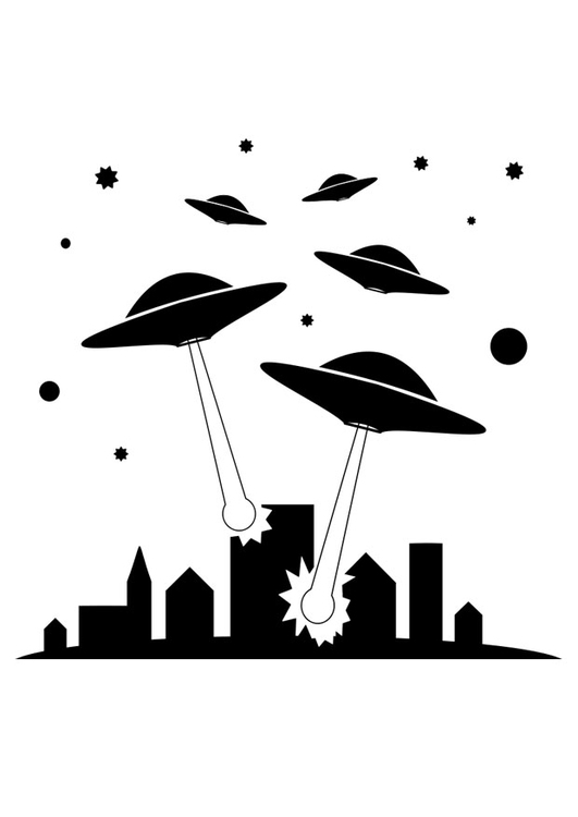 Coloring page UFOs