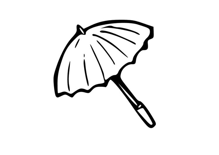 Coloring page umbrella