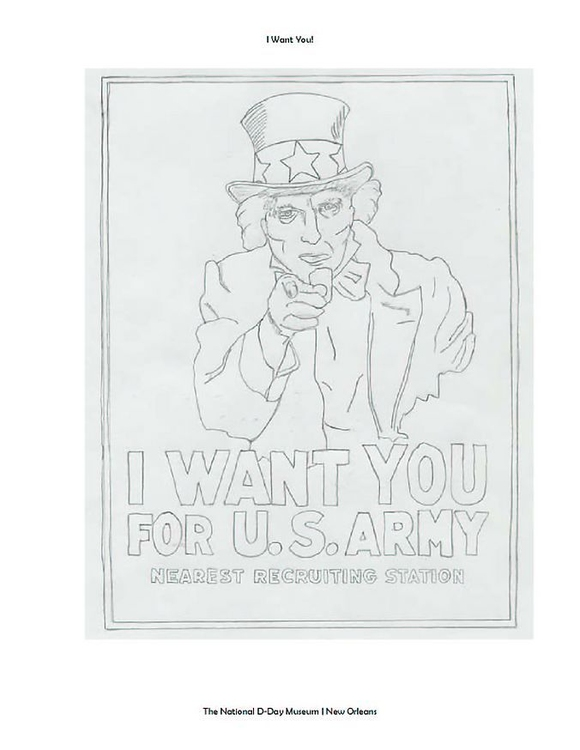 Coloring page Uncle Sam