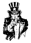 Coloring pages Uncle Sam