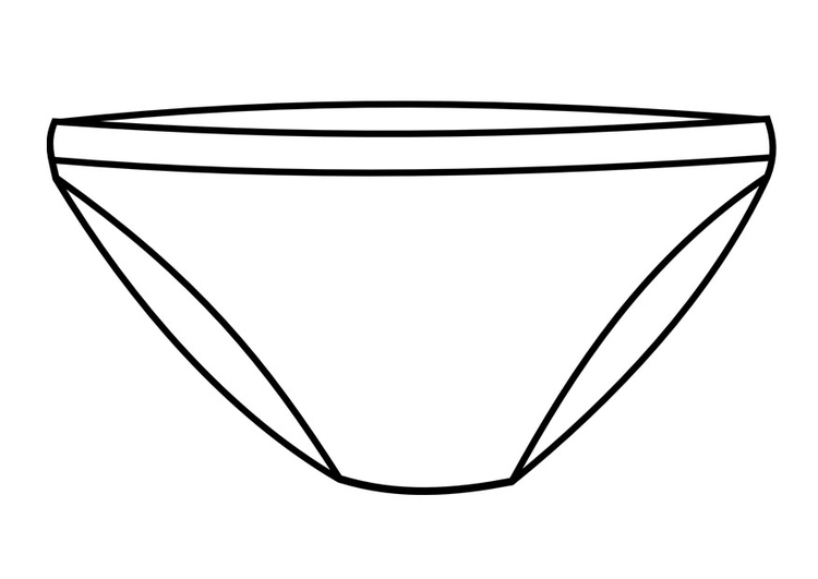 Coloring page underpants
