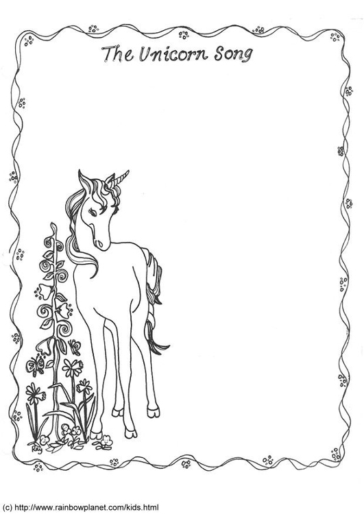 Coloring page unicorn song - img 16617.