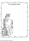 Coloring page unicorn song