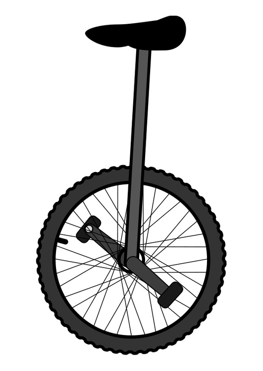 Coloring page unicycle