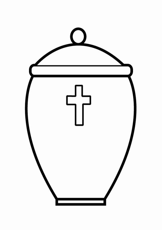 Coloring page urn