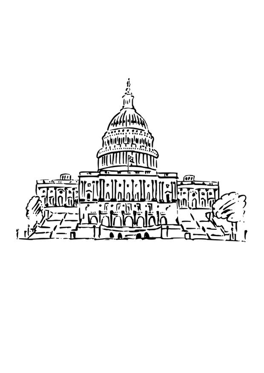 Coloring page US Capital
