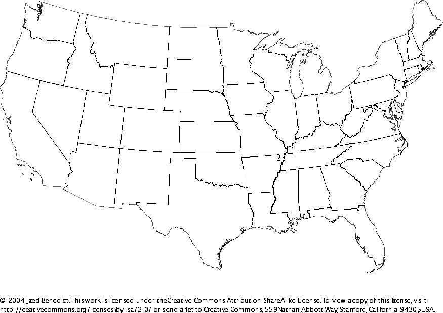 US Map USA A Map Of The United States Of America FileMap Of USA A - Map of us states no names