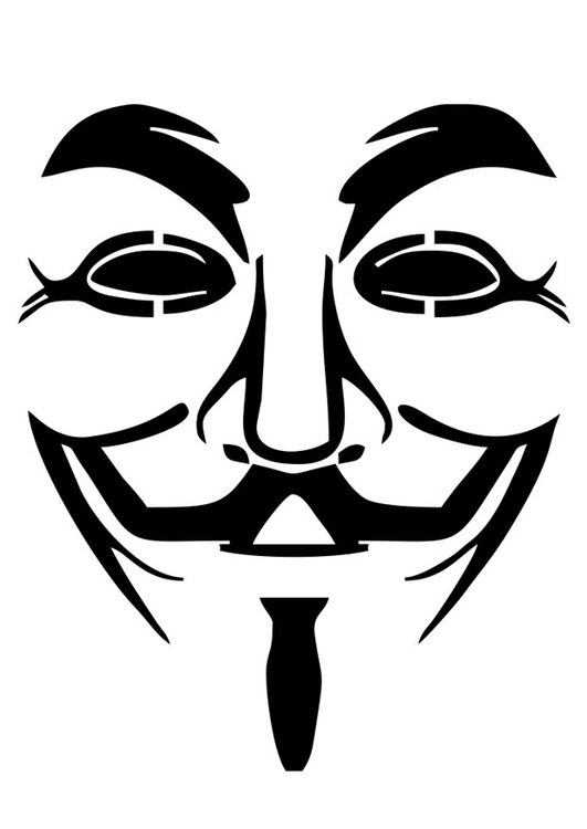 Coloring Page V For Vendetta Free Printable Coloring Pages